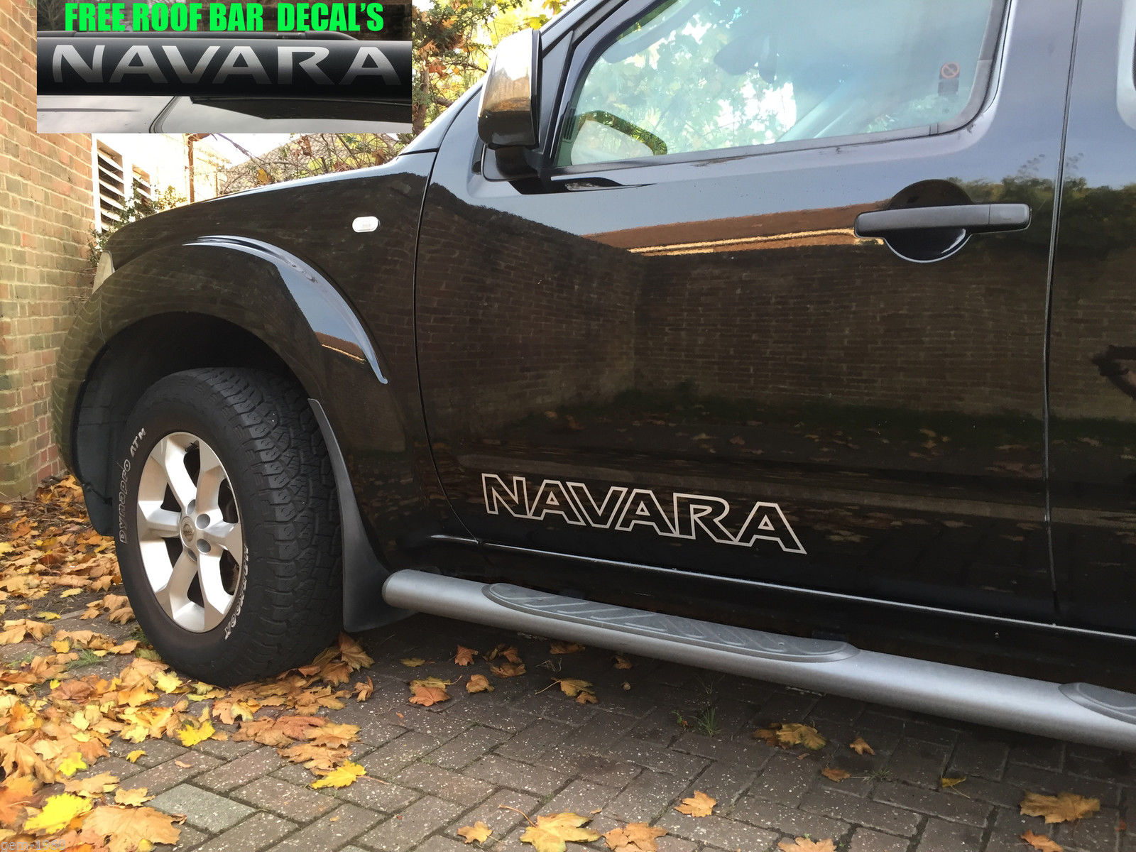 2 x nissan navara pick up side door stickers decals